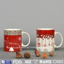 Taza de cerámica de la etiqueta del diseño de la Navidad
