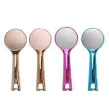 Special Design Double Sides Round Shaped Glass Foot File Rose gold painting Nano glass Foot File