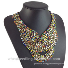 Europe Aliexpress Fashion Bohemia Inde collier de collier en perles de perles