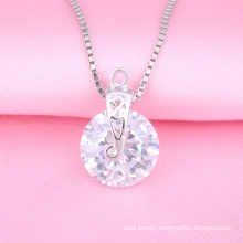Fashion Silver Jewelry Necklace, Casting Pendant, Imitation diamond jewelry