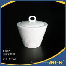 Venta al por mayor de china guangzhou bone china ceramic sugar pot
