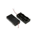 FBCB1158  black battery holder with wire leads