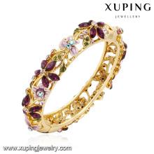 Brazalete de la manera -61 Brazalete colorido de la hoja de la flor de la joyería del diamante artificial