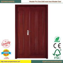 Дешевые двери деревянные панели двери двери кожи