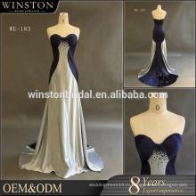Китай поставляем все виды дешевые платья темно-синий платье