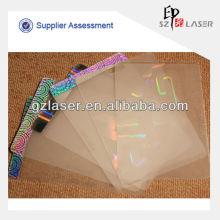 Holographisches Haustier transparent Laminierbeutel für PVC-Kartonverpackung