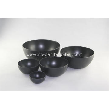 Bamboo fiber circle fruit bowl