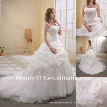 Astergarden À la mode, perles A-ligne organza fleur Voiles comme cadeau Noblest Robe nuptiale maillot manches MA-003