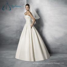 Sleeveless Lace Appliques Court Train New Design Beautiful Wedding Dresses