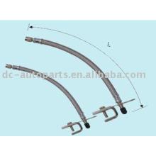 Extensão flexível de metal com suporte
