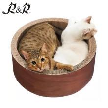 Garantido Qualidade Pet Toys Cat Scratcher rodada em forma de casa de gato RCS-8016