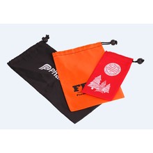 Nylon drawstring pouch with unilateral buckle