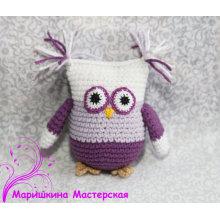 Crochet Owl Teether Teething toy Rattle pendant pendant plushie Stroller Crochet birds Rattle Baby shower gift