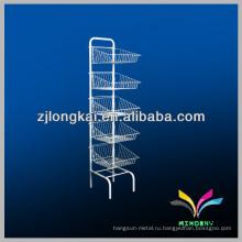 Напольная подставка белый провод устойчивые металлические стеллажи для аптеки