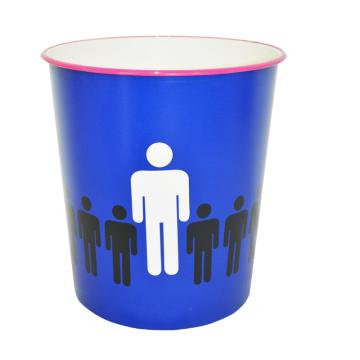 Пластиковая синяя открытая верхняя мусорная корзина для дома / офиса / спальни (B06-871)
