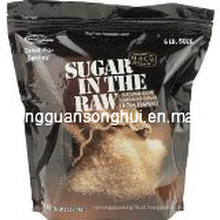 Saco de empacotamento dos doces plásticos / saco do açúcar de Brown / saco cru do açúcar / saco natural do açúcar de bastão