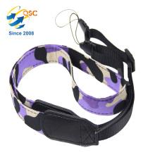 Manufacturer Custom Fashion Camouflage Color Nylon And PU Camera Neck Strap