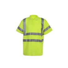 T-shirt de travail de sécurité réfléchissante à haute visibilité avec marché canadien