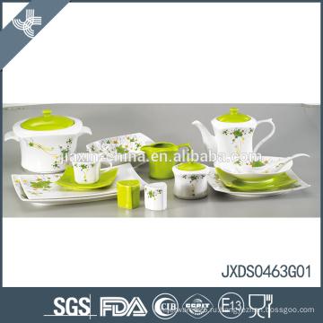Новое прибытие зеленое eco-friendly домашнее использование фарфора фарфора жемчужина посуда