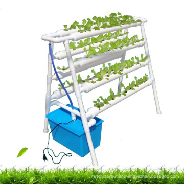 Double-sided ladder family balcony planting automatic soilless planting hydroponics pvc pipe