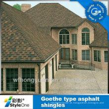 Telha de telhado de Brown / telha do asfalto de Johns Manville / material autoadesivo do telhadura (ISO)