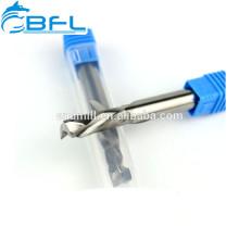 BFL carburo arriba y abajo de dos flautas de espiral de flauta, molino de extremo de 2 flautas para madera