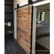 Rail Only Rustic Horizontal Plank Sliding Barn Door