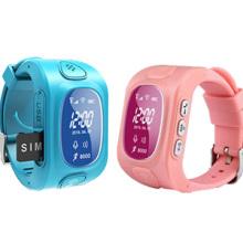 Mini Impermeável GPS Crianças Assista Segurança com 2 Dois Chamada Comunique-se, Google Map Tracking, Magnetic Charging (WT50-KW)