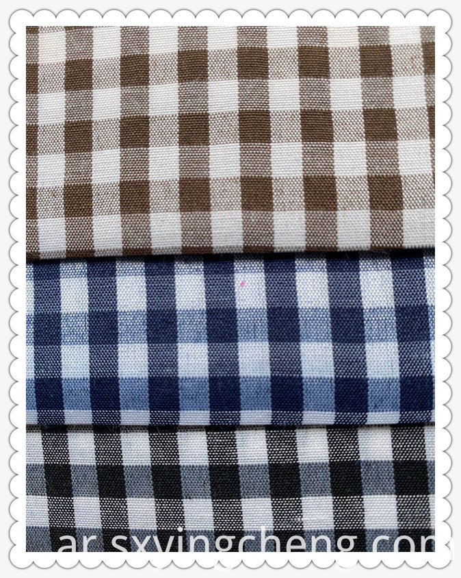 Polyester Plaid Fabric