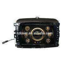 Lecteur DVD de voiture de 8 pouces pour Fiat 500 avec GPS, TV, Bluetooth, 3G, ipod, PIP, jeux, double zone, contrôle de volant