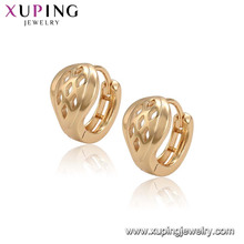 96525 xuping einfache neue Designs Top Verkauf Modell Ohrringe mit 18 Karat vergoldet