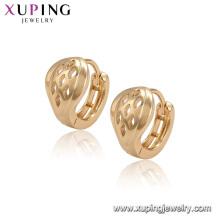 96525 xuping simples nuevos diseños pendientes de venta modelo superior con 18k chapado en oro