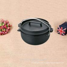 non enamel cast iron camping pot boiler
