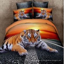 Тигр дизайн рисунок100% хлопок fabric
