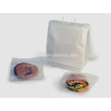 PE Printed Clear Saddle Food Bag