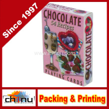 Cartões de jogo de receitas de chocolate - baralho de 54 cartas (430081)