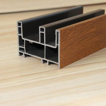 PVC-Schiebetüren Profile mit laminierter Holzfarbe