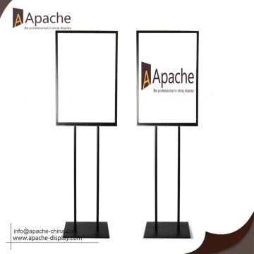 Poster Holder Free Standing With Metal Pedestal