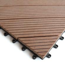 WPC Deck Tiles Waterproof Eco-Friendly DIY Composite Interlocking Flooring Tiles