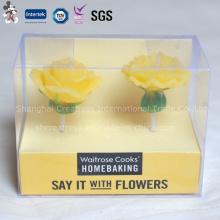 Bonne bougie en forme de fleur avec emballage en PVC