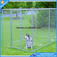 O profissional personalizou canis baratos galvanizados do cão do elo de corrente / grande cerca do cão