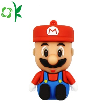 Portachiavi in ​​silicone con custodia in silicone Super Mario Rubber