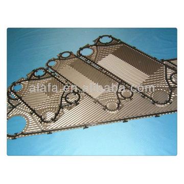 Sondex, GEA, Vicarb e assim por diante placa trocador de calor de marca e Gaxeta, ss304, 316, placa de titânio