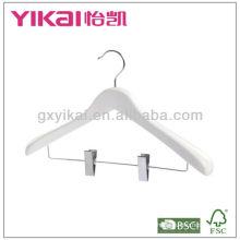 Perceuse en bois en tissu blanc avec large épaule et clips en métal