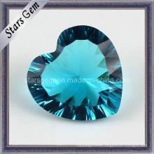 Cristal de corte milímetro de la forma del corazón para la joyería