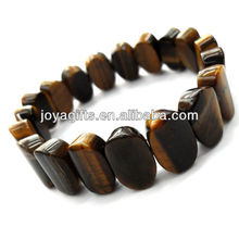 Tigereye gemstone Овальный проставка бисер стрейч браслет