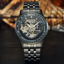 Black Hollow Mechanical Man Watch