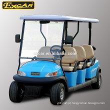 EXCAR 6 Assentos carrinho de golfe elétrico barato clube carro carrinho de golfe carrinho de buggy elétrico