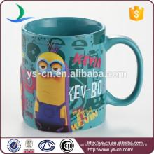 Cute Minions 3D cerámica taza de té de taza de té tazas 320 ml sin tapa