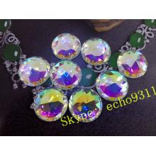 25 mm de cristal redondo cose en piedras para accesorios de la joyería